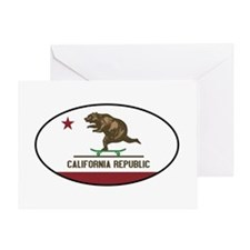 California Skateboarding Bear Flag Greeting Card