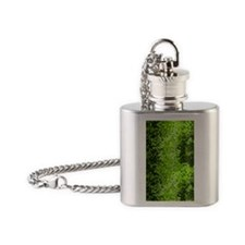 Disco Mirrors in Green Flask Necklace