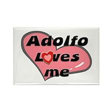 adolfo loves me Rectangle Magnet