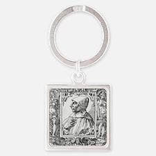 Girolamo Savonarola, Italian pries Square Keychain