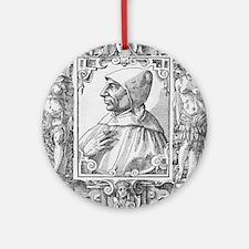 Girolamo Savonarola, Italian priest Round Ornament