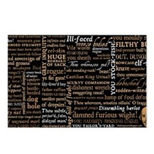 Shakespeare Insults Postcards (Package of 8)