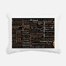 Shakespeare Insults Rectangular Canvas Pillow