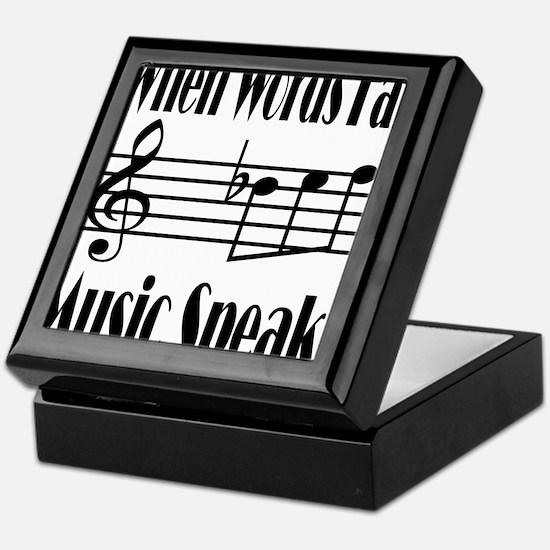 Music Speaks Keepsake Box