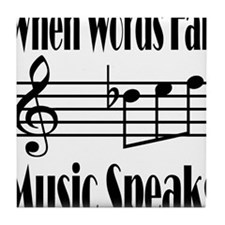 Music Speaks Tile Coaster