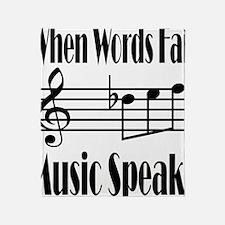 Music Speaks Throw Blanket