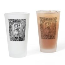 Francesco Petrarch, Italian poet Drinking Glass