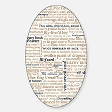 Shakespeare Quotes Sticker (Oval)