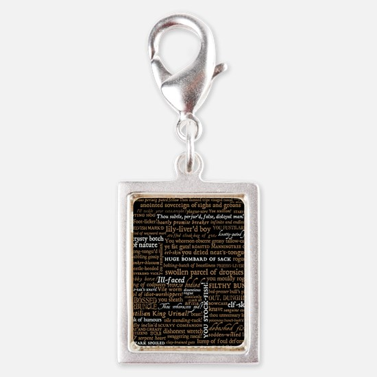 Shakespeare Quotes Silver Portrait Charm