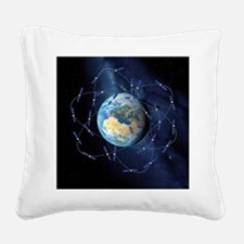 Galileo navigation satellite, Square Canvas Pillow