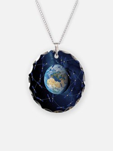Galileo navigation satellite Necklace