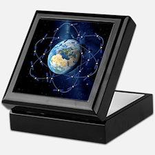 Galileo navigation satellite, artwork Keepsake Box