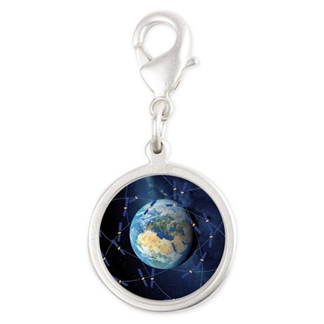 Galileo navigation satellite, Silver Round Charm