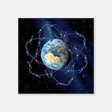 "Galileo navigation satellit Square Sticker 3"" x 3"""