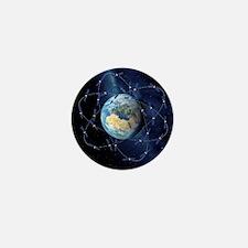 Galileo navigation satellite, artwork Mini Button