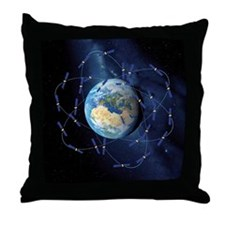 Galileo navigation satellite, artwork Throw Pillow