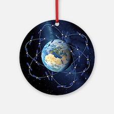 Galileo navigation satellite, artwo Round Ornament