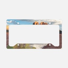 Sunset on Cathedral Mesa License Plate Holder