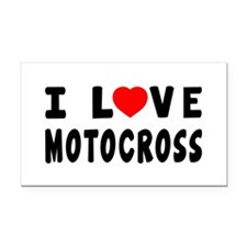 I Love Motocross Rectangle Car Magnet