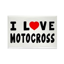 I Love Motocross Rectangle Magnet
