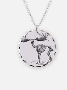 Giant deer, 19th century art Necklace
