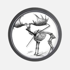 Giant deer, 19th century artwork Wall Clock
