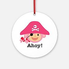 Captain Miss Monkie Round Ornament