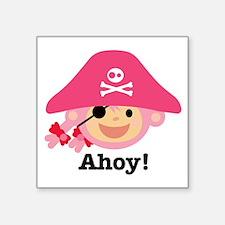 """Captain Miss Monkie Square Sticker 3"""" x 3"""""""