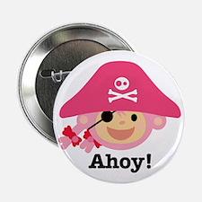 """Captain Miss Monkie 2.25"""" Button"""