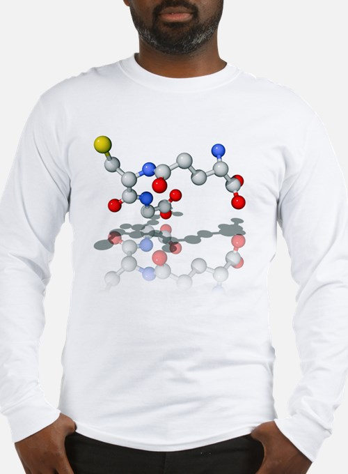 Glutathione, molecular model Long Sleeve T-Shirt