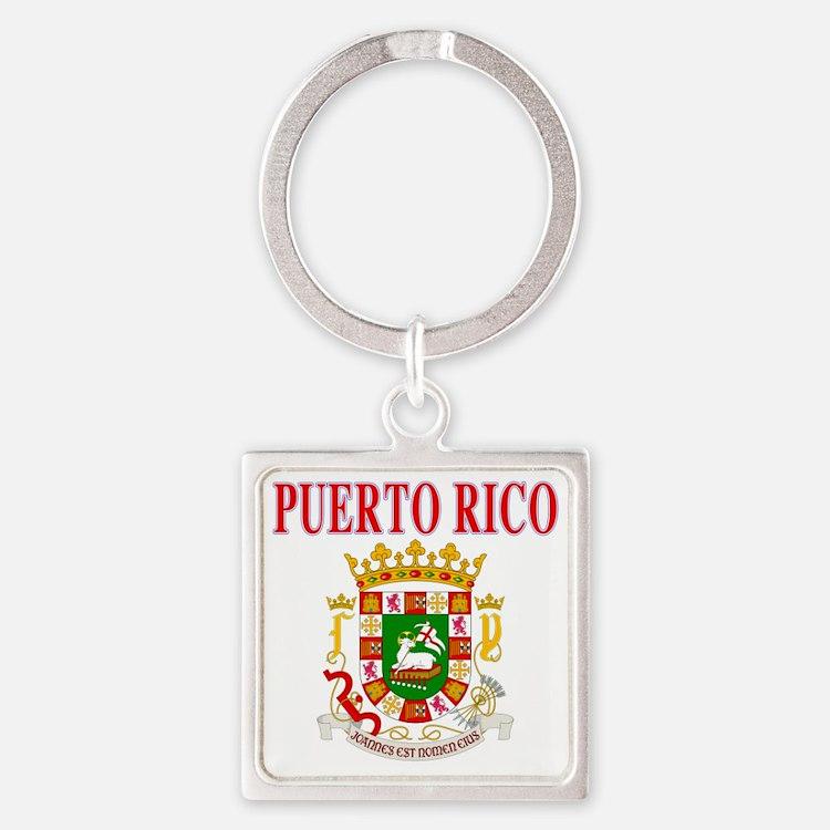 Puerto Rico Square Keychain