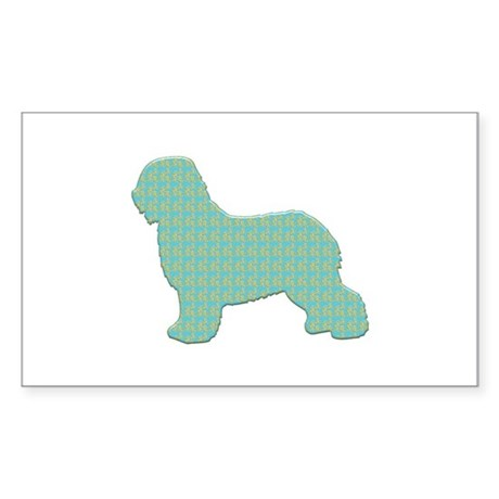 Paisley Schapendoes Rectangle Sticker