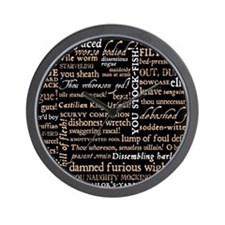 ShakespeareQuotes Wall Clock
