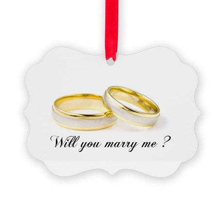 Will you marry me Picture Ornament