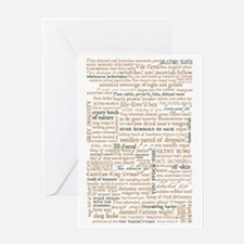 Shakespeare Quotes Greeting Card