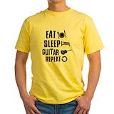 Guitar t shirts Mens Yellow T-shirts