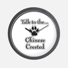 Crested Talk Wall Clock