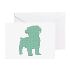 Paisley Schnoodle Greeting Cards (Pk of 10)