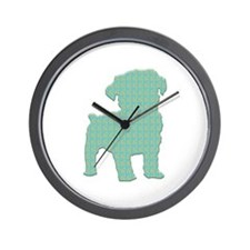 Paisley Schnoodle Wall Clock