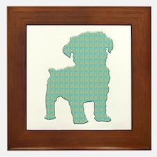 Paisley Schnoodle Framed Tile