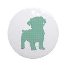 Paisley Schnoodle Ornament (Round)