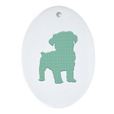 Paisley Schnoodle Oval Ornament