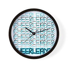 Cheerleader (blue) Wall Clock