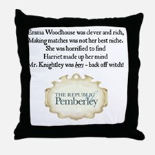 Jane Austen 2011 Limerick Throw Pillow