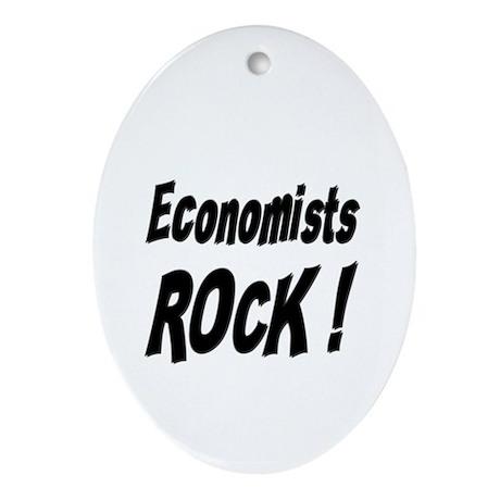 Economists Rock ! Oval Ornament