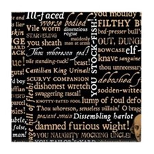 Shakespeare Quotes Tile Coaster