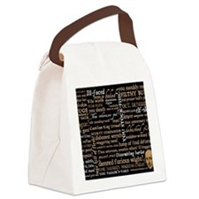 Shakespeare Quotes Canvas Lunch Bag