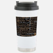 Shakespeare Quotes Stainless Steel Travel Mug