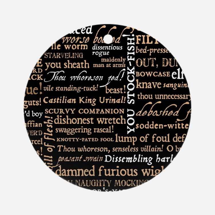 Shakespeare Quotes Round Ornament