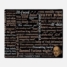 Shakespeare Quotes Throw Blanket